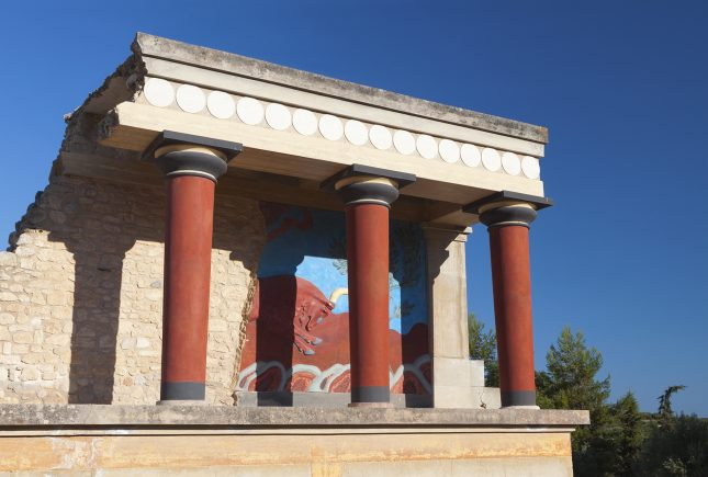 Knossos minoan ancient palace at Crete island in Greece.